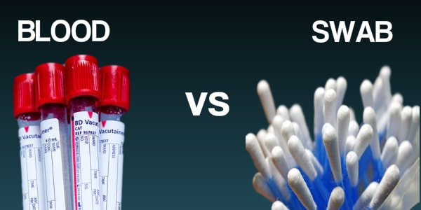 dna blood and swab difference